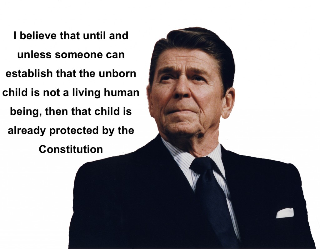 Ronald Reagan on abortion